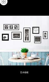 ✔INSTOCK Creative art photo frame wall stickers living room bedroom wall stickers TV background painting aisle wall decorations corridor wall sticker decals self-adhesive