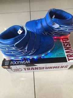 Led light blue wing toddler shoes