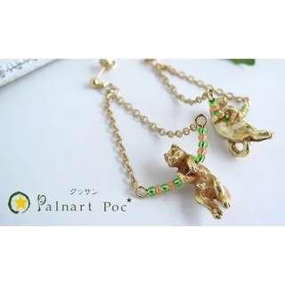 日本制 palnart poc 貓貓耳環 earring cat Palnart Poc