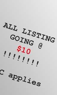 ONLY TODAY $10 $10 $10