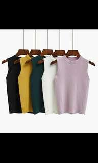 Korean style women's 2018 knit top