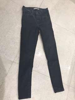 Levi black jeans high rise size 24
