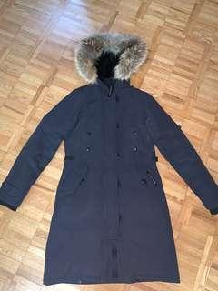Women's Canada Goose Kensington Jacket - Navy Blue XS