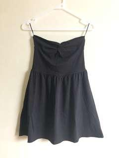 H&M black bustier dress
