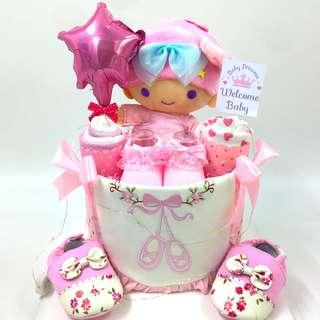 Little Twin star Diapers Cake