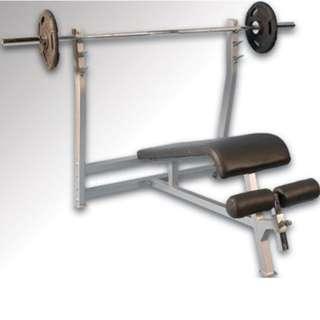 Alat Olahraga Decline Bench Press Ready Stick dan Barbel Harga Murah