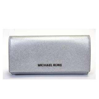 Authentic MK wallet brand new silver