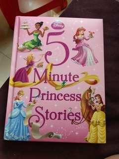 5 minutes princess stories book