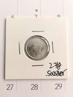 Rare year 1945 10 cents malaya