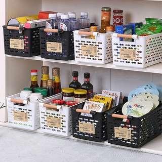 🚚 日式塑膠洞洞 收納籃整理收納筐浴室桌面化妝品小籃子廚房收納盒
