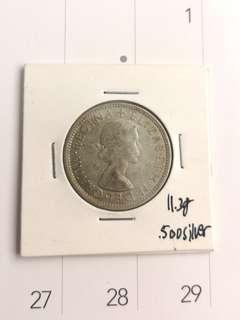 Silver 1 florin coin