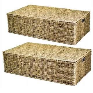 Under bed storage underbed container Seagrass grass lid