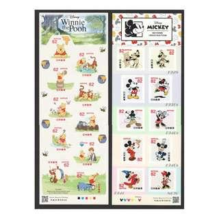 🚚 JAPAN 2018 DISNEY WINNIE THE POOH & MICKEY 62 & 82 YEN 2 SOUVENIR SHEETS OF 10 STAMPS EACH IN MINT MNH UNUSED CONDITION