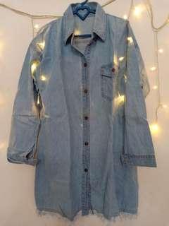 Tunik Jeans Shred Light Blue