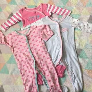 MOTHERCARE 3 Pack Sleepsuits