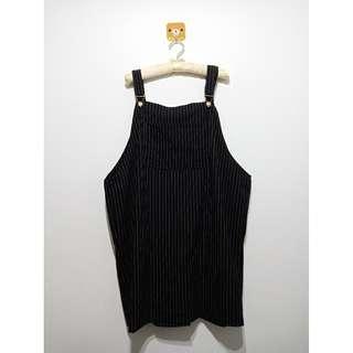 🚚 ◄ 吊帶裙/條紋/黑色