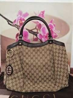 As NEW Gucci Sukey GG Large Tote