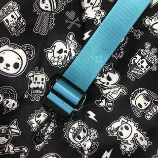 1.5 inch teal blue seat belt strap for jujube