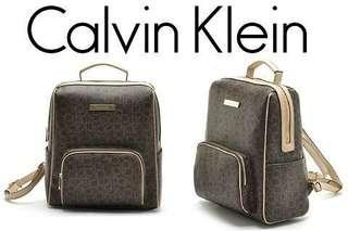 Authentic Calvin Klein Monogram large bagpack