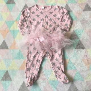 NEXT Stars Tutu Sleepsuit