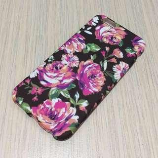 iPhone Silicon Case 6/6s in Black Floral