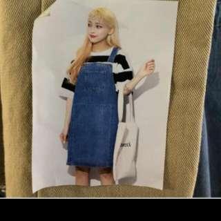 正韓短版吊帶裙