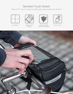 ROSWHEEL 111459 3L Capacity Bike Front Handlebar Bag (GRAY)