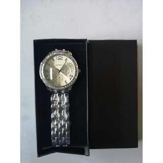 Geneva Macey Stainless Steel Watch (Silver)