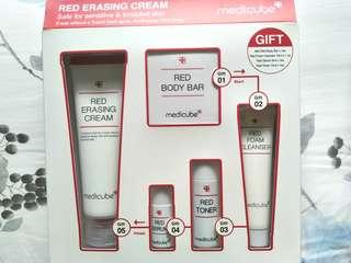 MEDICUBE RED ERASING CREAM, RED FORM CLEANSER, RED SERUM, MINI RED BODY BAR, RED TONER FREE NORMAIL MAIL