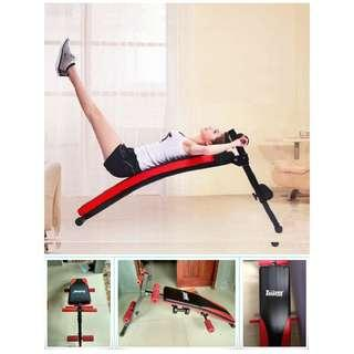 Papan Fitnes Sit UP Bench Alat Fitness Bentuk Perut Six Pack Termurah