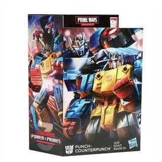 MISB Transformers Generations Prime Wars Trilogy Power Of The Primes Punch-Counterpunch (Universe Classics Henkei Legends Combiner Wars Titans Return Siege War For Cybertron Punch Counterpunch Optimus Prime Convoy)