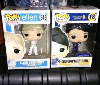 Ellen Degeneres & Singapore Girl Funko Pop Bundle
