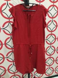 et Cetera Red Jumpsuit