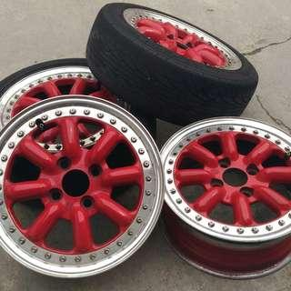Black Racing 14 inch (2 piece) for Kancil