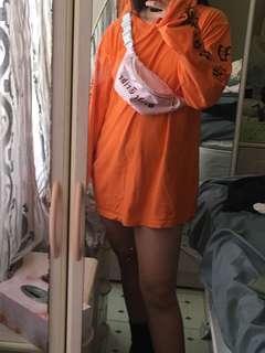 Replica Vetement orange jumper