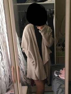 Beige fluffy coat