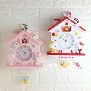PO Sanrio Characters 3D Wall Clock w Swing Motion
