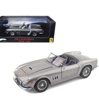 1/18 Hot Wheels Elite Ferrari 250 California