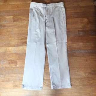 Brentwood mens long beige chinos work pants