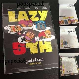 Gudetama Memo Paper Black Lazy 5TH
