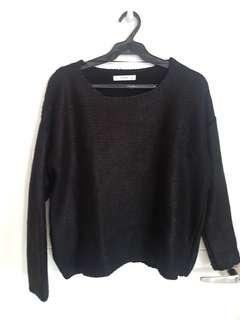MANGO Black Knit Swester