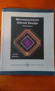 Microelectronic Circuit Design (3rd Edition)
