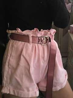 Baby pink high waist short