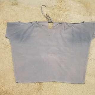Grey shoulder top