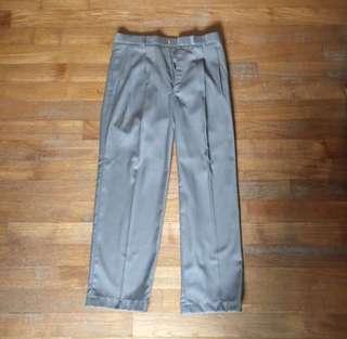Crocodile brown grey long work pants