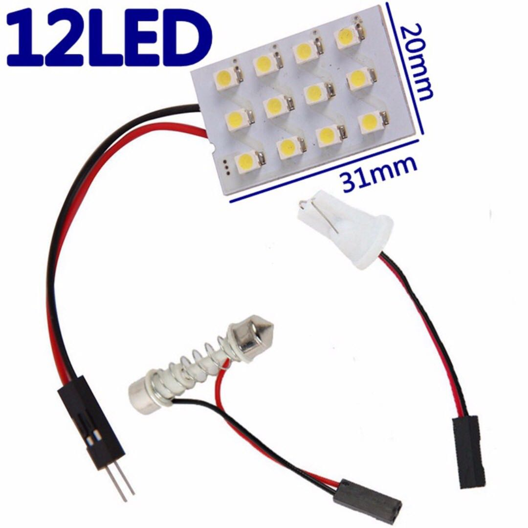 12 Led Interior Bulb Roof Light With T10 Adapter Festoon Base Car Bulbs Super Bright Leds Accessories Electronics Lights On Carousell