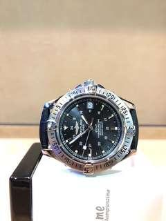Pre Owned Breitling Colt A17350 Black Dial Automatic Steel Casing Leather