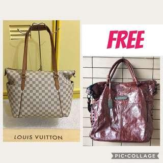 LOUIS VUITTON TOTALLY AZUR MM WITH FREE THOMAS WYLDE TWO WAY BAG