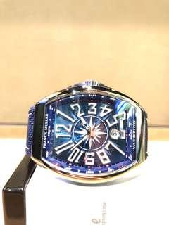 Brand New Franck Muller Yachting V41 SC DT Blue Dial Automatic Steel Casing Leather