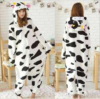 Unisex milk cow onesie